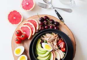 healthy bowl of fruits and vegetables