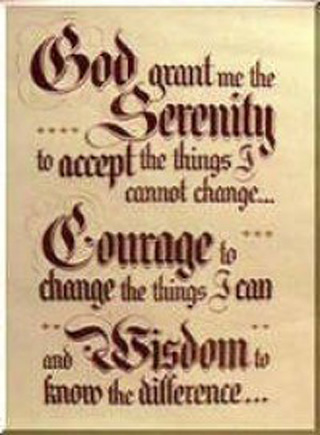 the Serenity Prayer written in Old English