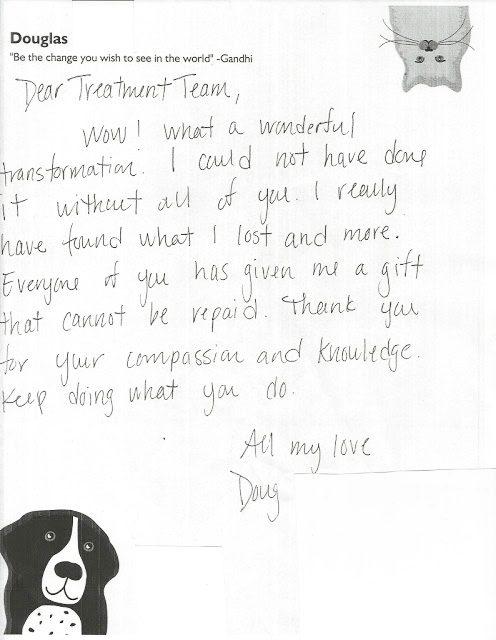 hand written client testimonial