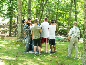 experiential-therapy-300x225 - men low ropes course