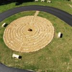 Aerial view of the labyrinth at EMR - English Mountain Recovery
