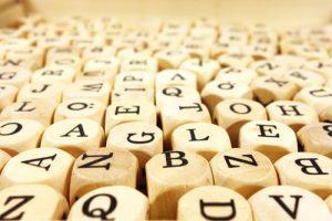 wooden letter blocks - words